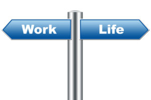 Directional sign with Work Life