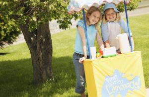 Girls Running Lemonade Stand