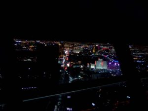 My view from dinner at the Top of The World restaurant in the Stratosphere Tower Las Vegas NV